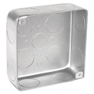 1-1/2 Inch Deep 4 Inch Square Drawn Junction Box-10 per - Square Junction