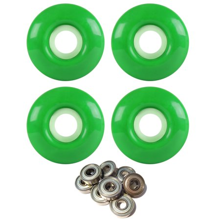 Skateboard Wheels 97A 52mm Kelly Green with ABEC 7 BEARINGS