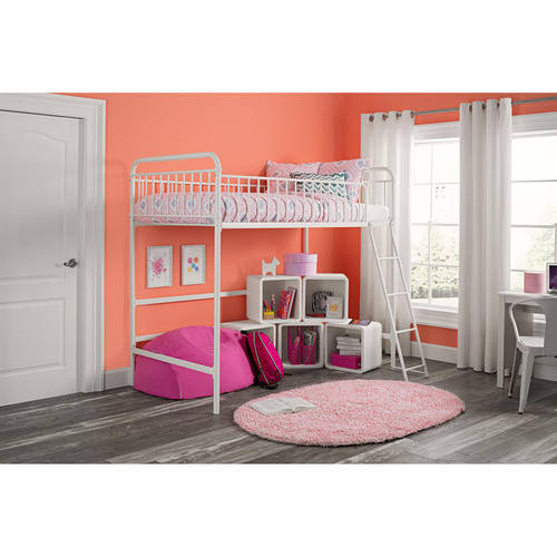 Better Homes and Gardens Kelsey Twin Metal Loft Bed, Multiple Colors