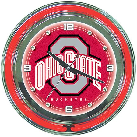 The Ohio State University 14 Quot Neon Wall Clock Walmart Com