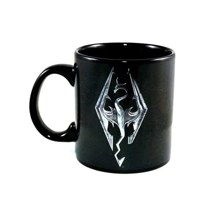 Skyrim Game Symbol Foil Print Mug - Custom Tin Mugs