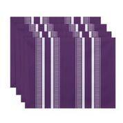 """Simply Daisy 18"""" x 14"""" Dashing Stripe Stripe Print Placemat (Set of 4)"""