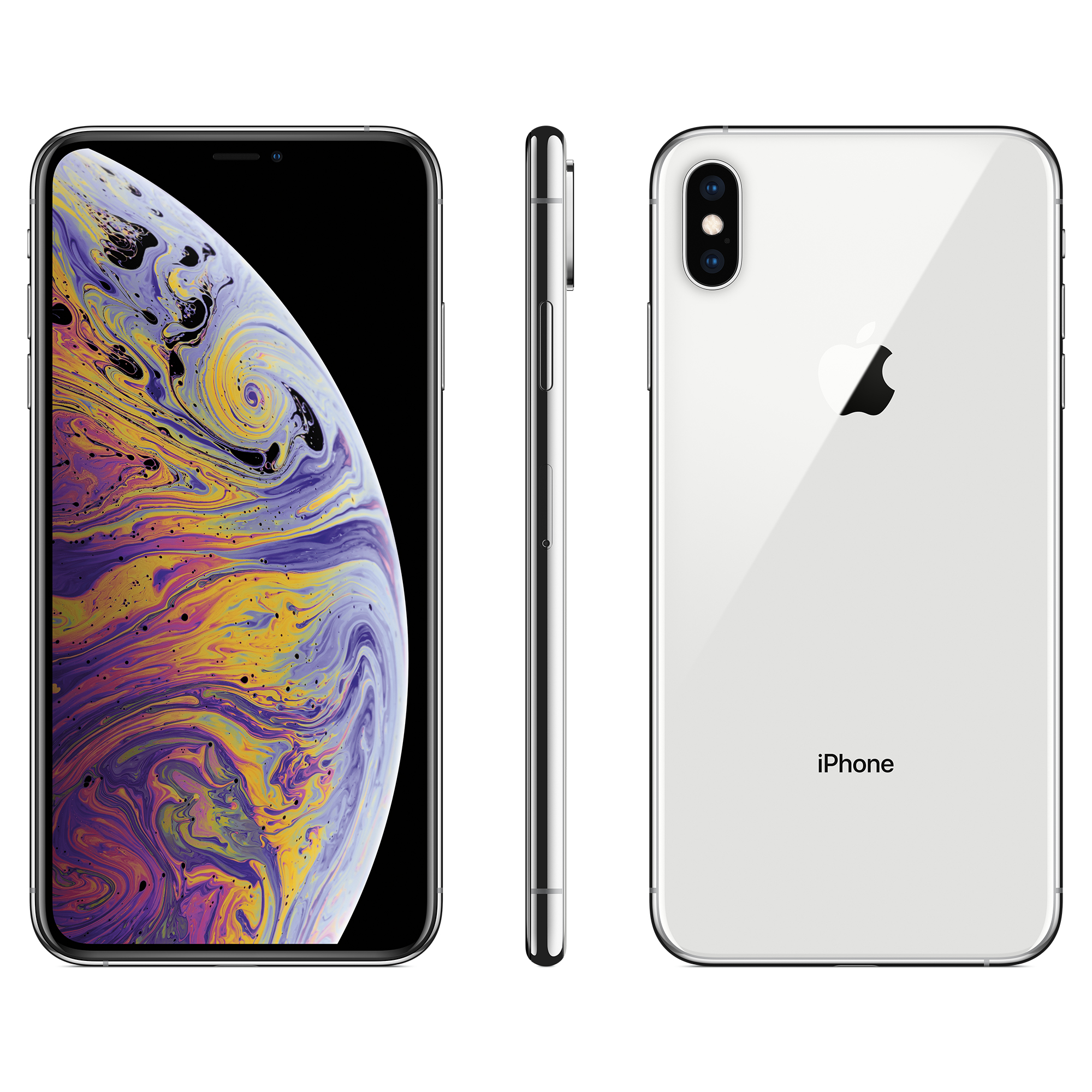 Total Wireless Apple iPhone XS MAX, 64GB Silver - Prepaid Smartphone