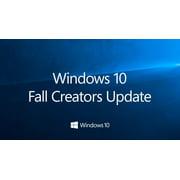 Microsoft Windows 10 Pro 32/64-bit Creators Update Operating System, 1 License, USB Flash Drive (FQC-10069)