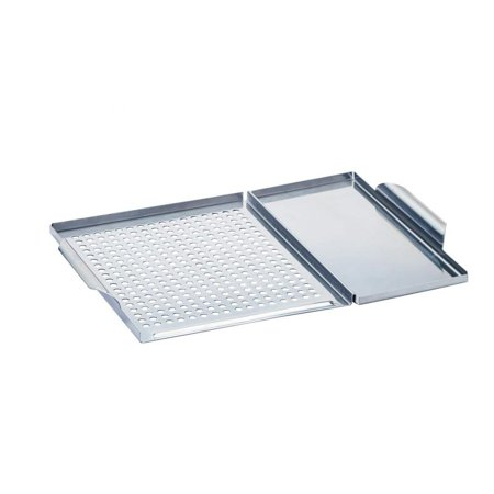 Bull Dual Durable Stainless Steel Grilling Grid Guard and Plank Board Saver