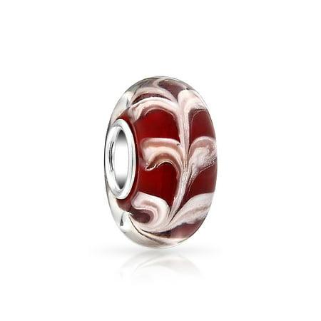 Bling Jewelry Simulated Garnet Murano Glass Bead 925 Silver Fits Pandora