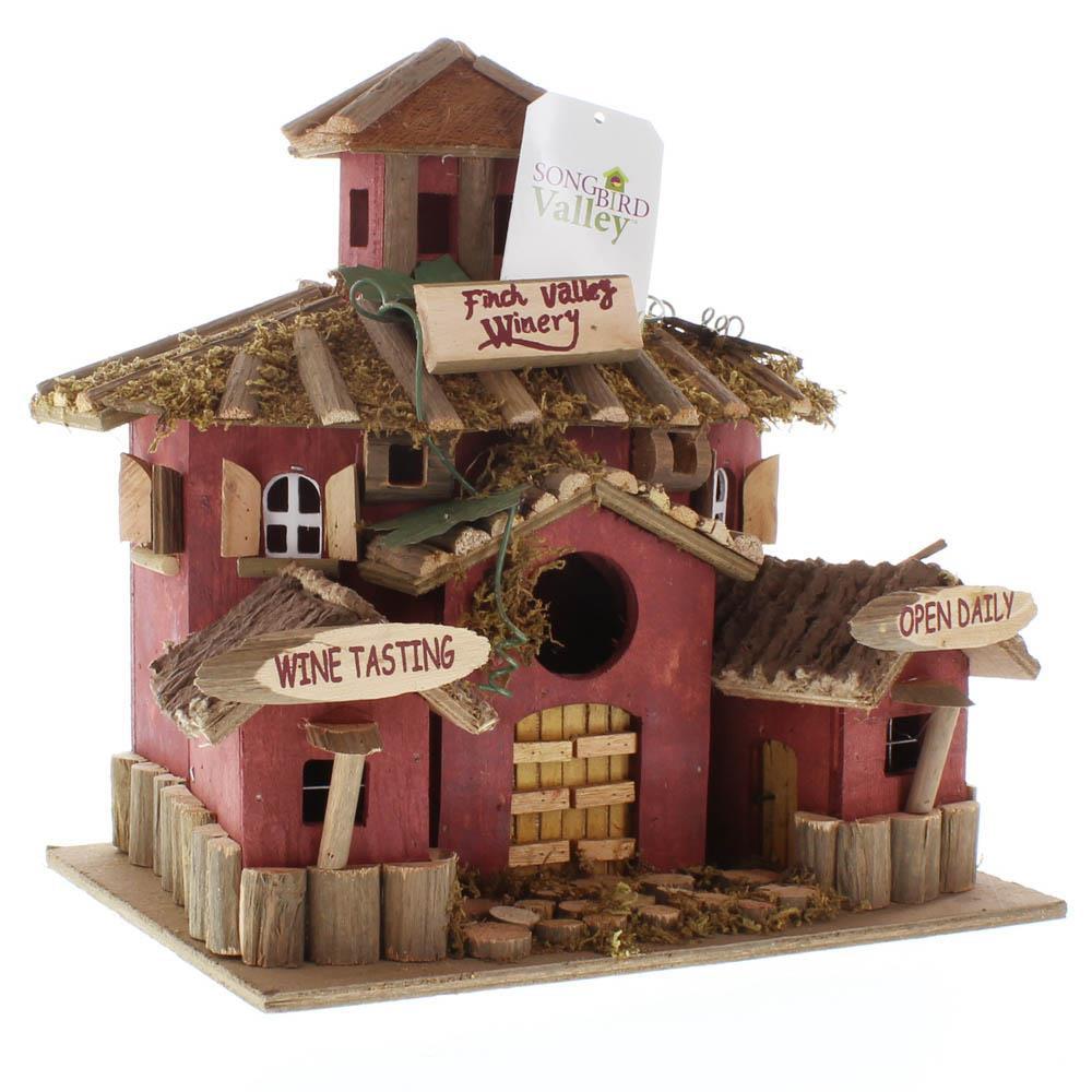 Wooden Bird Houses,cheap Hanging Outdoor Finch Sparrow Hummingbird Birdhouse