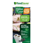 "FoodSaver 11"" x 16' Vacuum Seal Roll, 2 Pack"