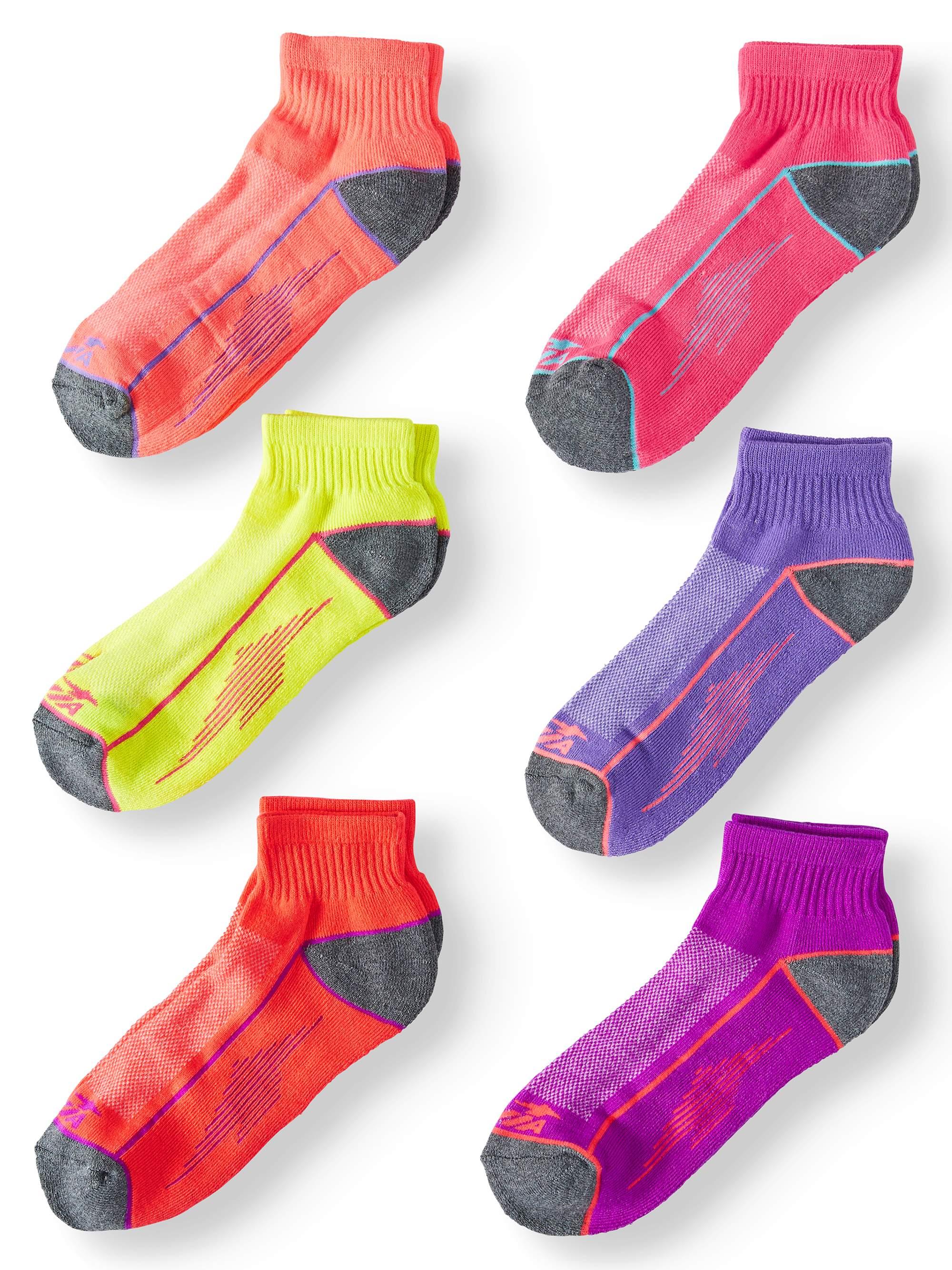 Ladies Cushioned Performance Ankle Socks, 6 Pack