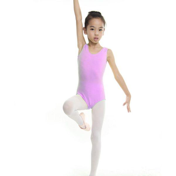 Girl Kid Gymnastics Ballet Dance Leotard Outfit Stretchy Tank Top Long Pants Set
