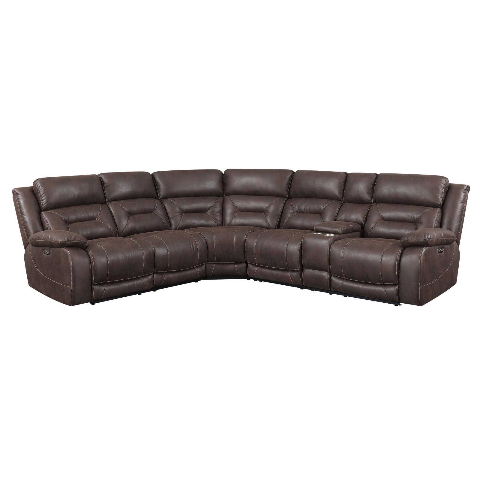 Steve Silver Co. Aria 3 Piece Upholstered Reclining Sectional Sofa