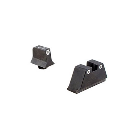 Trijicon GL201-C-600649 HD Night Sight Suppressor Set White Front / White Rear with Green Lamps For Glock Pistols -