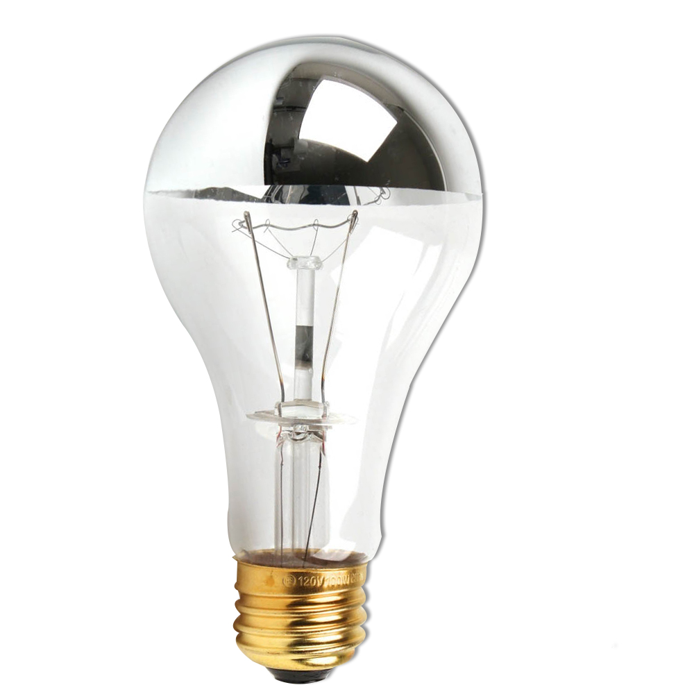 GoodBulb 100A21HM Half Chrome 100W A21 A Shape Incandescent Bulb Perfect For Open Fixtures, Pendants, Restaurant And Retail Lighting - Clear1 Pack