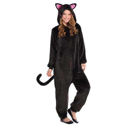 Adult Black Cat Onesie Costume - Cat Bodysuit Costume