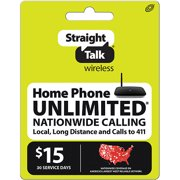 Straight Talk $15 Home Phone Unlimited 30 Days Plan (Email Delivery)