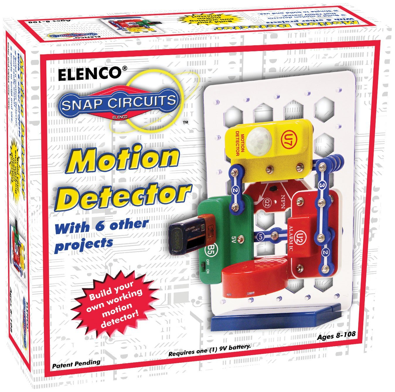 View Larger Snap Circuits Motion Geek Tattoos Elenco Lights Walmartcom Detector Kit Laser Sound Alerts You By