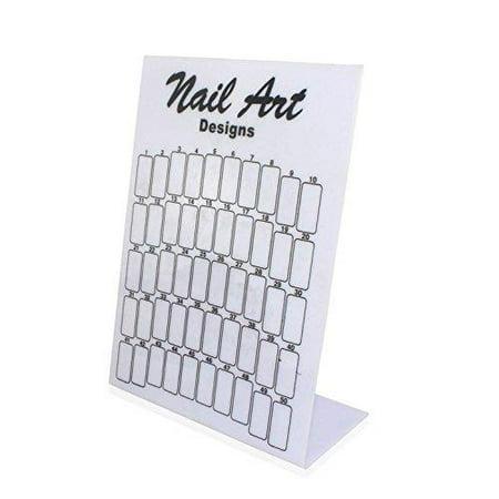 Beauticom Airbrush Designs Nail Tips Display Board - White