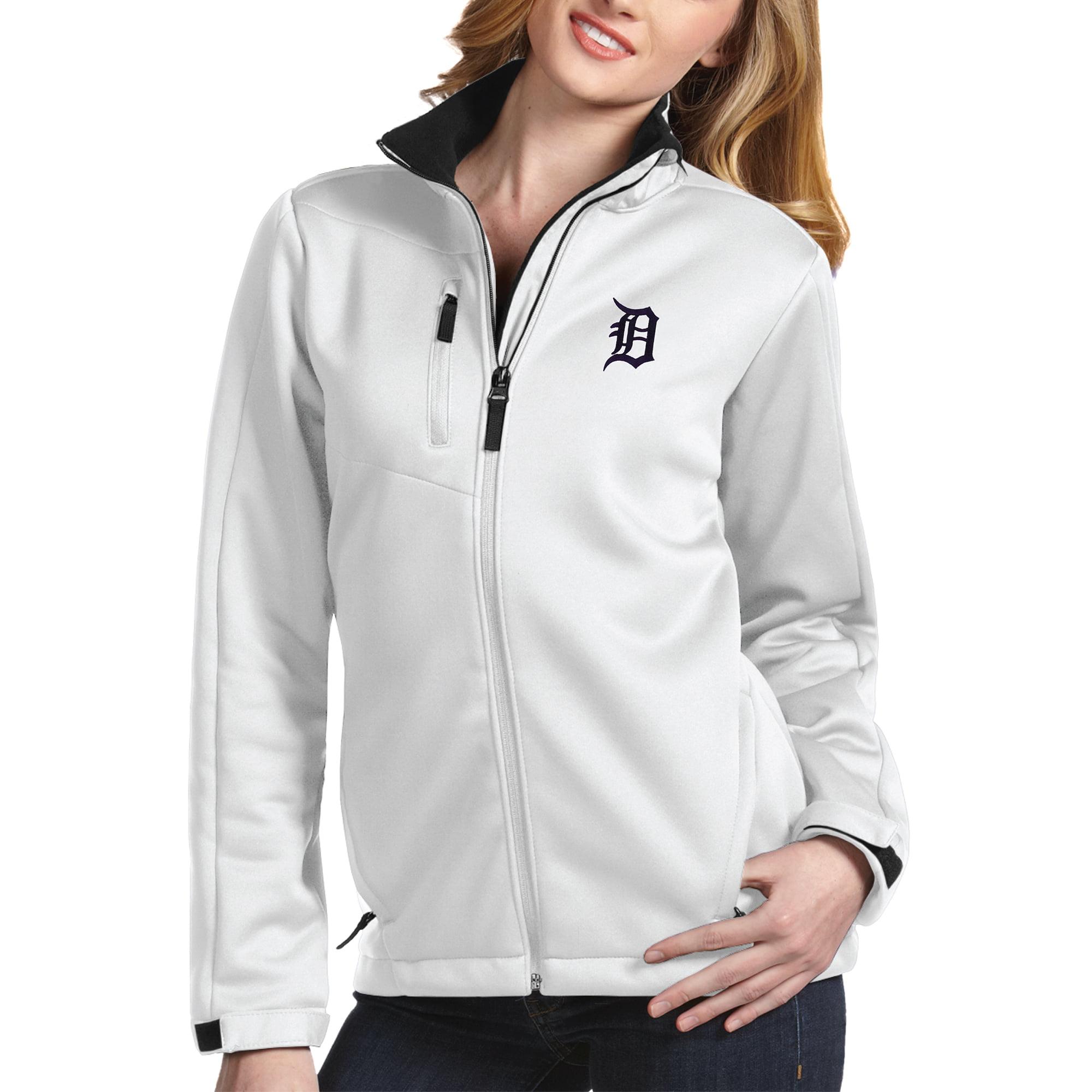 Detroit Tigers Antigua Women's Traverse Jacket - White