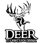 Deer Whats For Dinner Decal