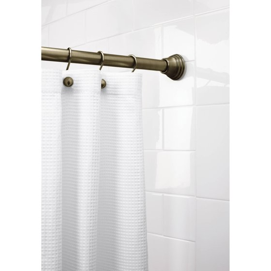 Better Homes and Gardens Easy Hang Tension Shower Rod, Antique ...