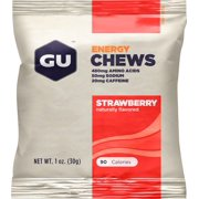 GU Energy Chews: Strawberry, Box of 24
