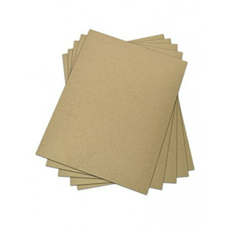 Chipboard - Cardboard Medium Weight Chipboard Sheets - 25 Per Pack. (12 x 12)