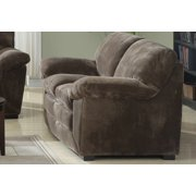 Emerald Home Devon Mocha Loveseat with 8 Way Hand Tied Springs And Easy Clean Microfiber Upholstery