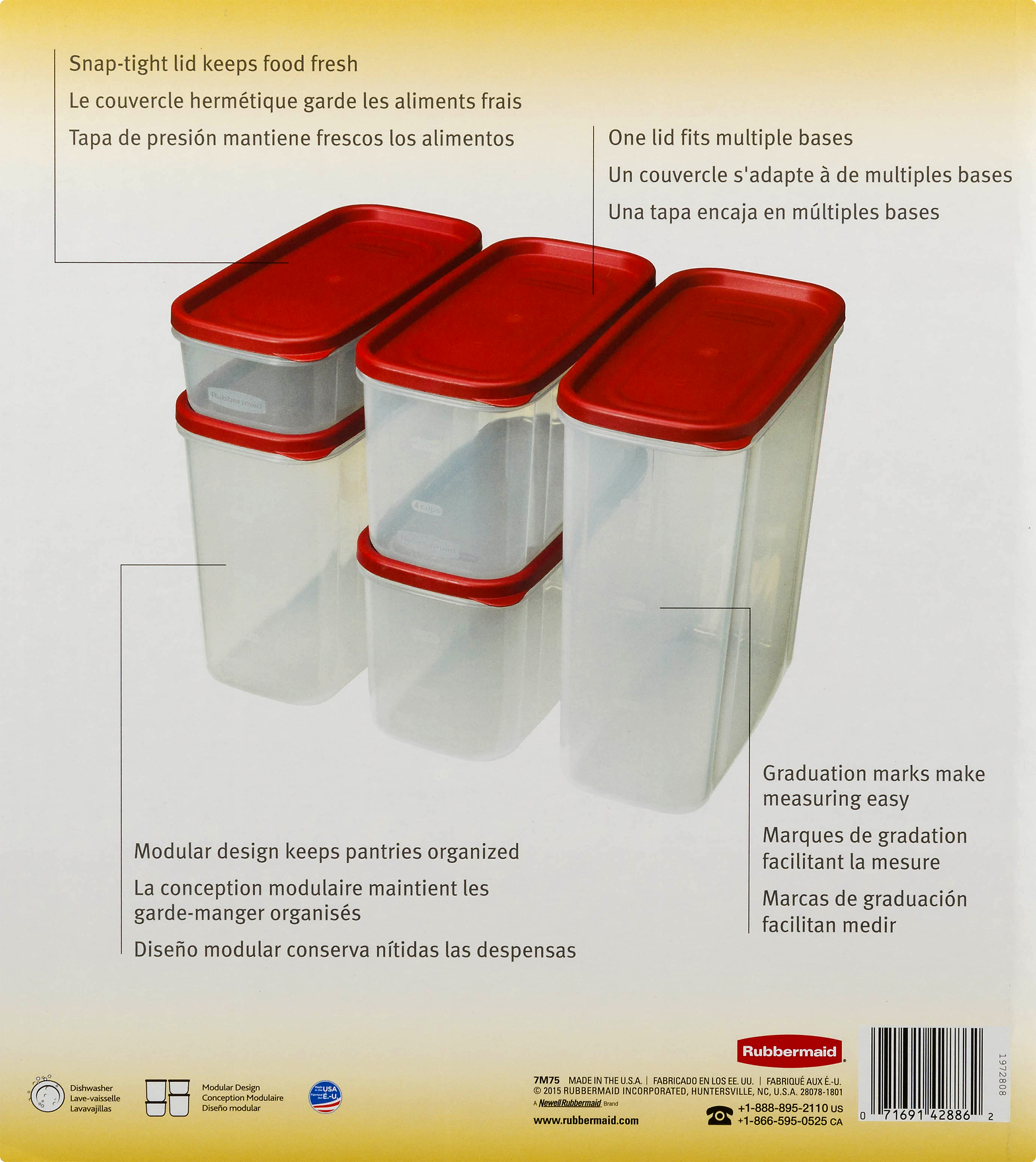 Rubbermaid 8 piece modular food canister set walmart fandeluxe Image collections