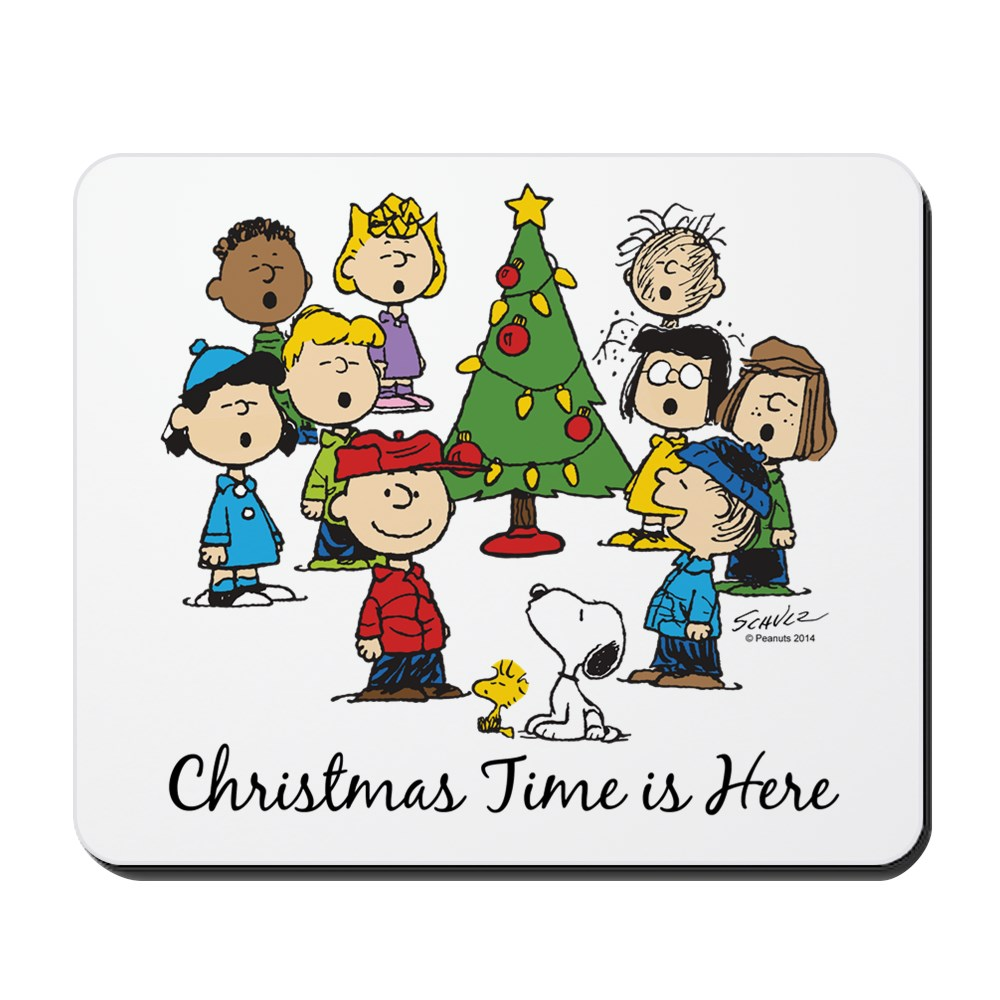 CafePress - The Peanuts Gang: Christmas Is Here - Non-slip Rubber Mousepad, Gaming Mouse Pad