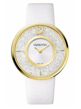 Crystalline White Yellow Gold-Tone Ladies Watch 1184025