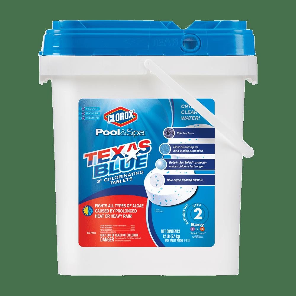 "Clorox Pool&Spa Texas Blue 3"" Chlorinating Tablets, 12lb"