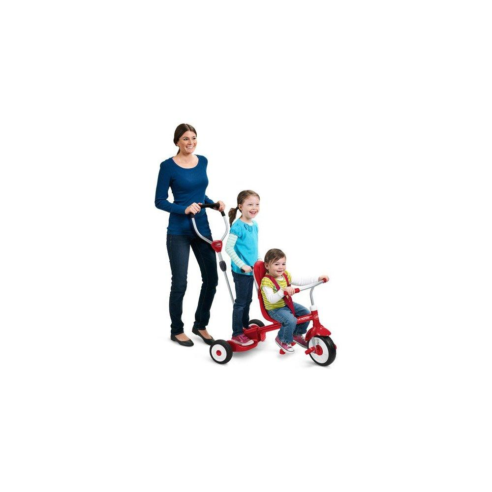 Radio Flyer Ride & Stand Stroll 'N Trike Kids Toy Children's Push pedal Ride-ons Indoor outdoor Toys High-back... by