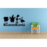 #squadgoals Spongebob Squarepants Cartoon Children Bedroom School Classroom Daycare Pre School Custom Wall Decal Vinyl Sticker 10 Inches X 20 Inches