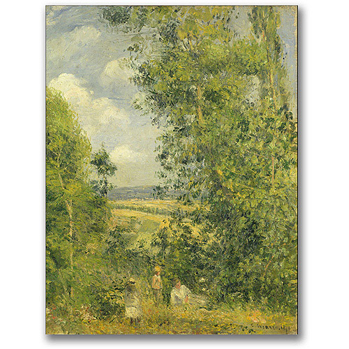 "Trademark Fine Art ""A Rest In The Meadow"" Canvas Wall Art by Camille Pissaro"
