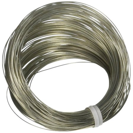50138 28 Gauge, 100ft Steel Galvanized Wire, Ideal for hanging art projects and for fastening, craft and decorating applications By Ook