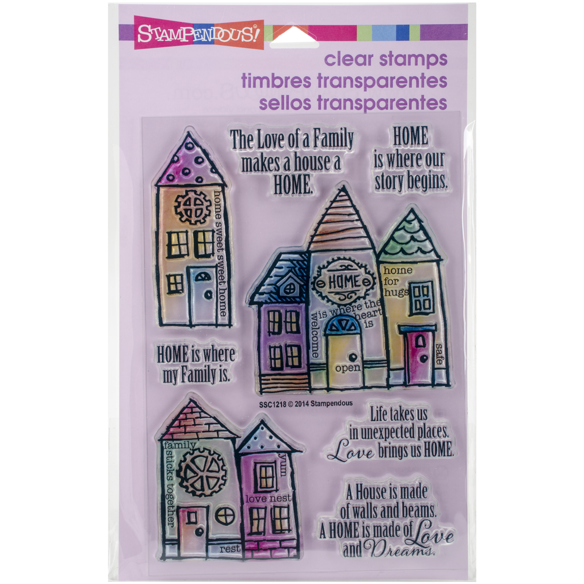 "Stampendous Perfectly Clear Stamps 4""X6""-Family Home"
