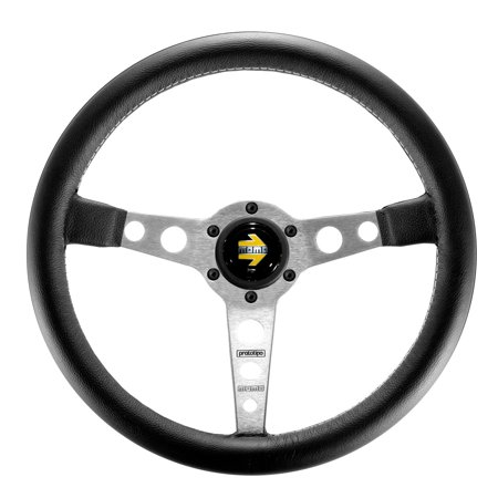 - MOMO Steering Wheel Prototipo Black Silver - 350mm