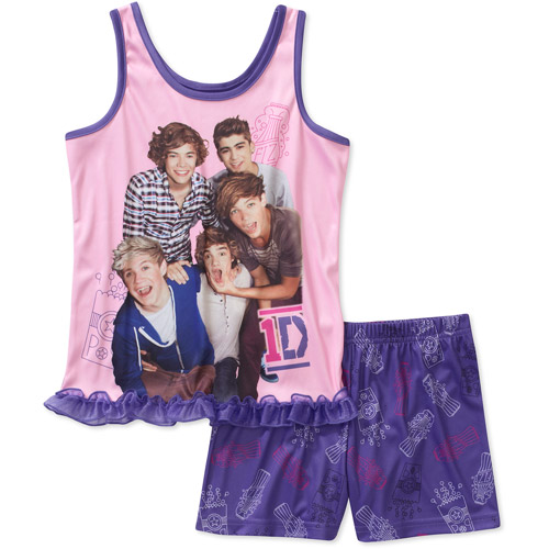 One Direction Girls 2 Piece Tank and Short Pajama Set