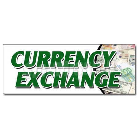 CURRENCY EXCHANGE DECAL sticker best conversion rate fast low cost