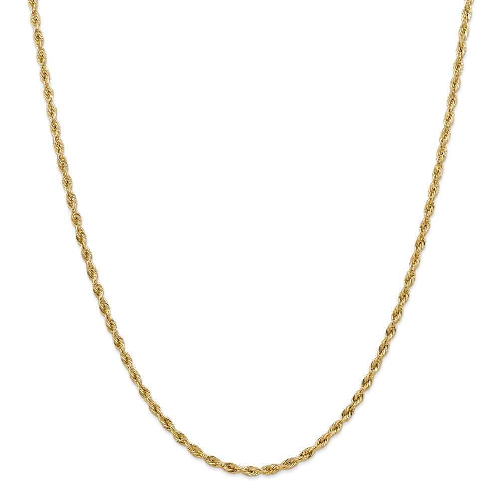 14k Yellow Gold 24in Hollow Rope Necklace Chain