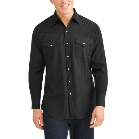Ely Cattleman Mens long sleeve tone on tone western