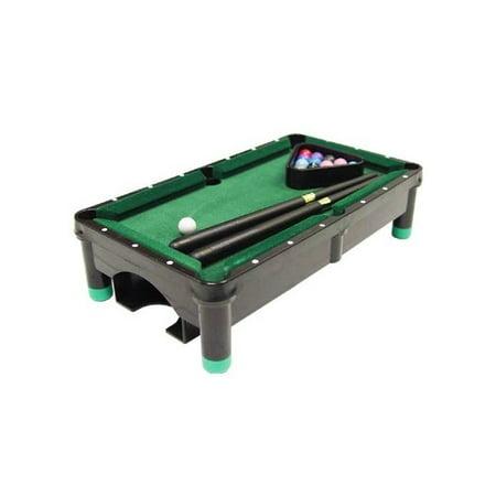 plastic mini pool table set in polished black finish. Black Bedroom Furniture Sets. Home Design Ideas