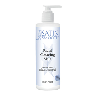 Satin Smooth Facial Cleansing Milk 8 oz derma e Evenly Radiant Brightening Serum 2 oz