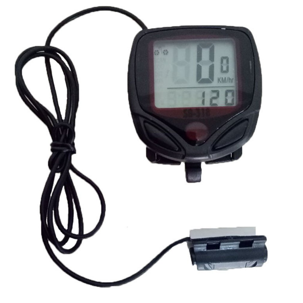 LESHP Bike Computer Bicycle Speedometer Odometer Temperature Backlight Water Resistant Riding Cycling Computer