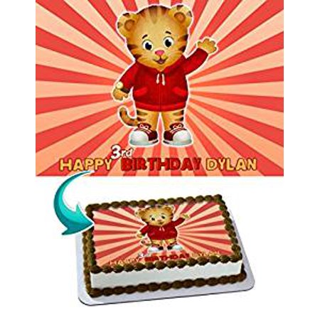 Daniel Tiger Edible Image Cake Topper Personalized Icing Sugar Paper A4 Sheet Frosting Photo 1 4 For
