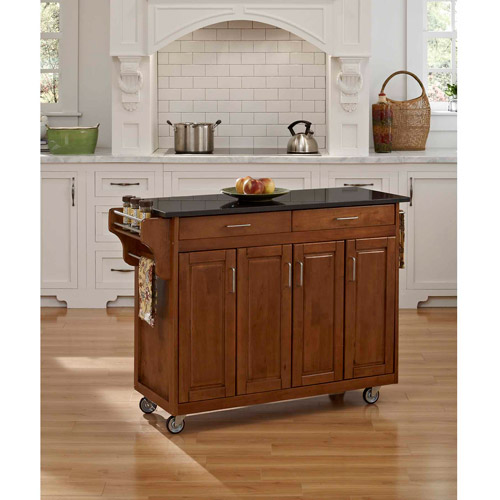 Home Styles Create-a-Cart, Cottage Oak with Black Granite Top