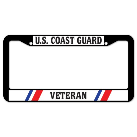 Signmission U S Coast Guard Veteran Plastic License Plate