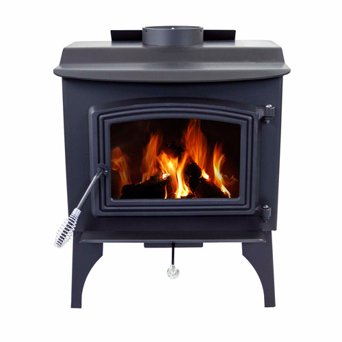 Pleasant Hearth Small Stove, Black Steel by GHP Group Inc