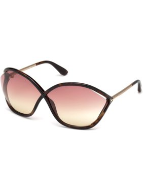 13aab70e7eb44 Product Image TOM FORD FT 0529 Sunglasses 52Z Dark Havana   Gradient Or  Mirror Violet