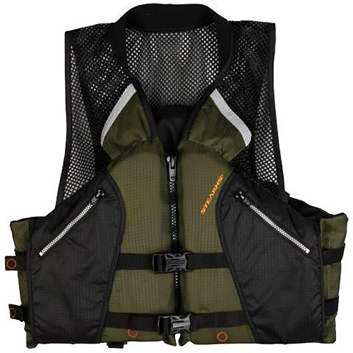 Click here to buy Stearns Comfort Collard Fishing Vest, Green by COLEMAN.